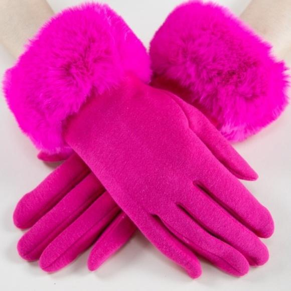 Winter Faux Fur Tech Gloves